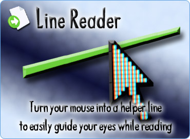Turn your mouse into a helper line, to easily guide your eyes while reading long documents